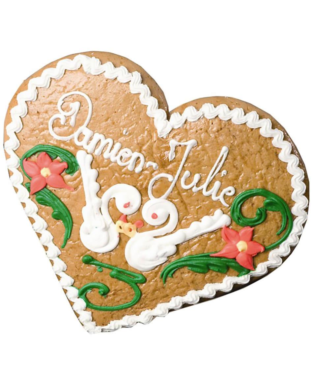 Lebkuchen aus dem Elsass, Herzform, Storchendekor