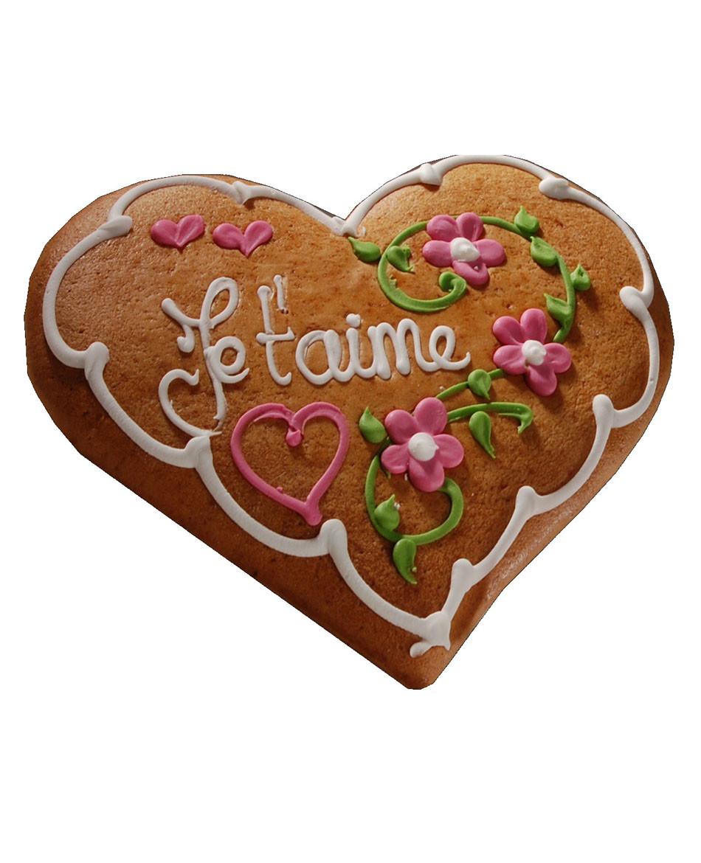 Lebkuchen aus dem Elsass herzfirm blumendekor