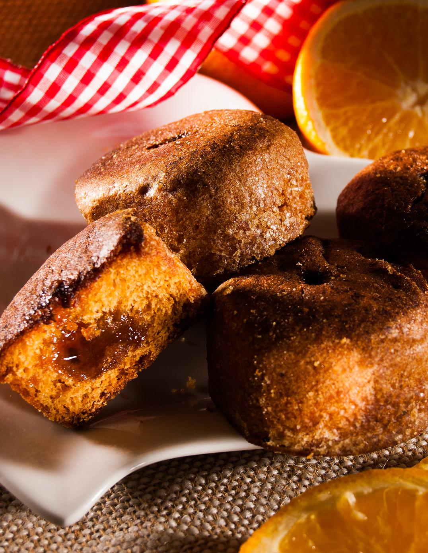 6 Honigkuchen mit Orangenfüllung