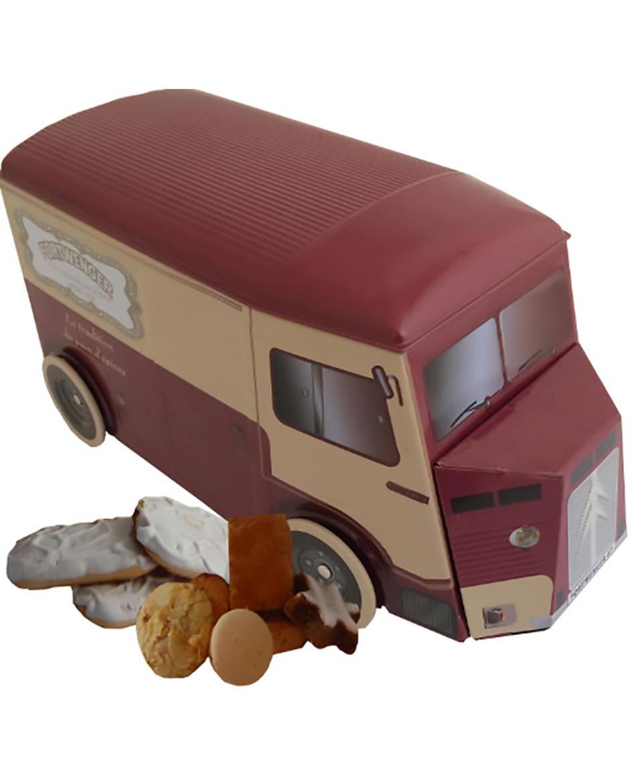 Lieferwagen von Fortwenger gefüllt mit Zungen und Plätzchen