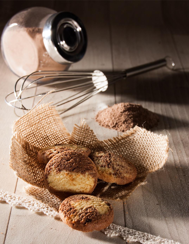 Kakao-Marmorplätzchen aus der Biscuiterie von Onkel Hansi