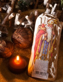 Lebkuchen-Nikolaus, mit Zuckerüberzug