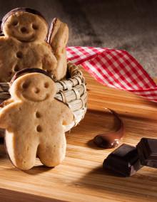 Lebkuchen Mannele mit Schokolade
