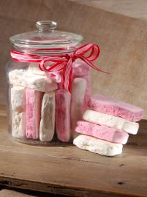 Marshmallow weiß und rosa