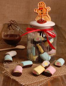 Marshmallow mini mit schokolade